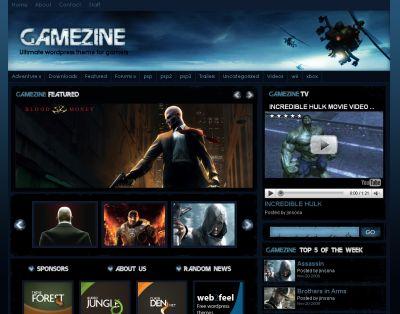 gamezine-theme