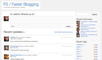 P2 уникальная тема для WordPress