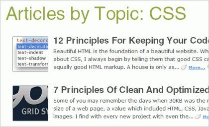 Используйте RSS фиды по рубрикам