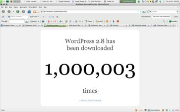 Миллион скачиваний WordPress