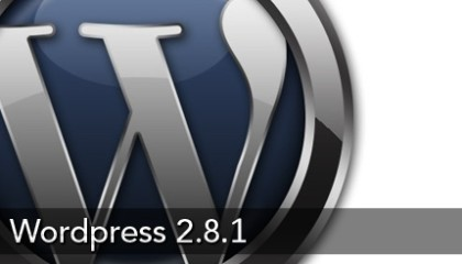 wWordpress 2.8.1 Beta 1