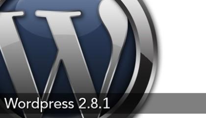 wWordpress 2.8.1 Beta 1