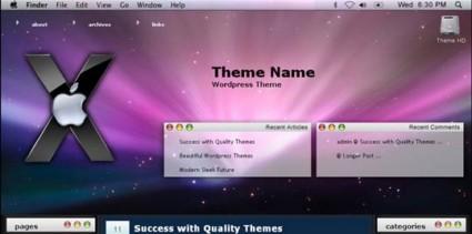 Leopard Mac WordPress Theme