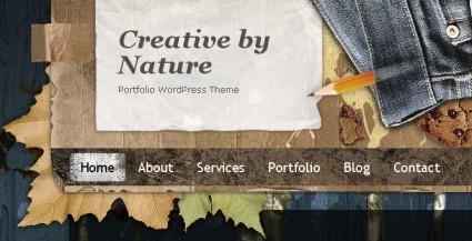 Бесплатная тема creative by nature