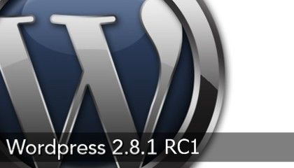 WordPress 2.8.1 RC1
