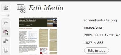 Редактор изображений в WordPress 2.9