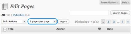 Admin Per Page Limits
