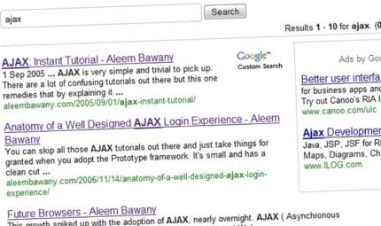 Google Custom Search Plugin