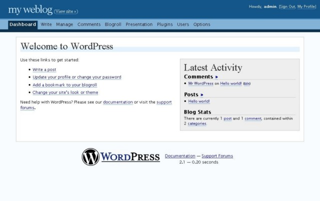 WordPress 2.1 – Ella