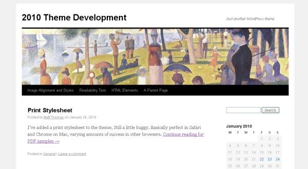 Новая Default тема WordPress 3.0